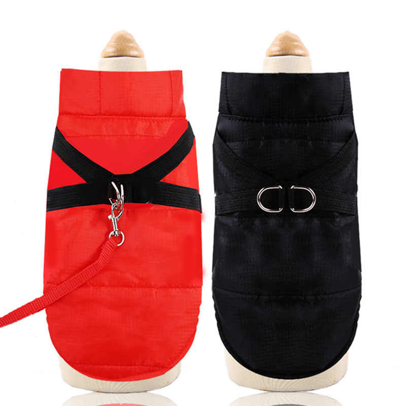 Windproof Waterproof Pet Dog Cat Coat Warm Jacket Puppy Dog Kitten Cat Ski Suit Snowsuit Vest with D Ring Winter Cat Clothing
