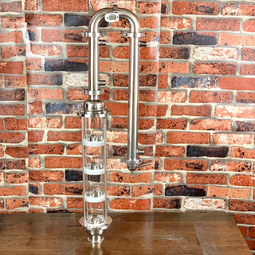 Glass Column For Distillation. Stainless Steel  Bubble Plates 4pcs . Moonshine Still. Distiller