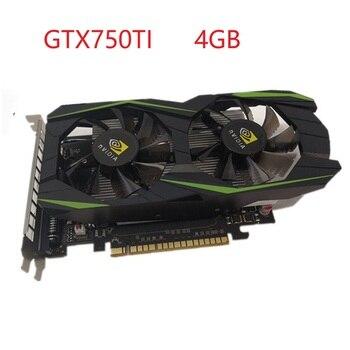 Gtx750ti 4gb placa de vídeo desktop computador escritório placa gráfica de alta definição jogos discreta placa gráfica no exterior versão 1