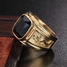 FDLK nuevo dragón dorado Color oro hombre AAA anillo de boda hombres 6-15 Retro joyería
