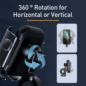 Image 3 - Baseus Bicycle Phone Holder Motorcycle Handlebar Support Moto Bicycle Rear View Mirror Stand Mount Motor Bike Phone Holder