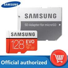 Cartão micro sd original de samsung 128gb classe 10 cartão de memória evo + evo mais microsd 512gb 256gb 64gb 8gb tf cartão de memória