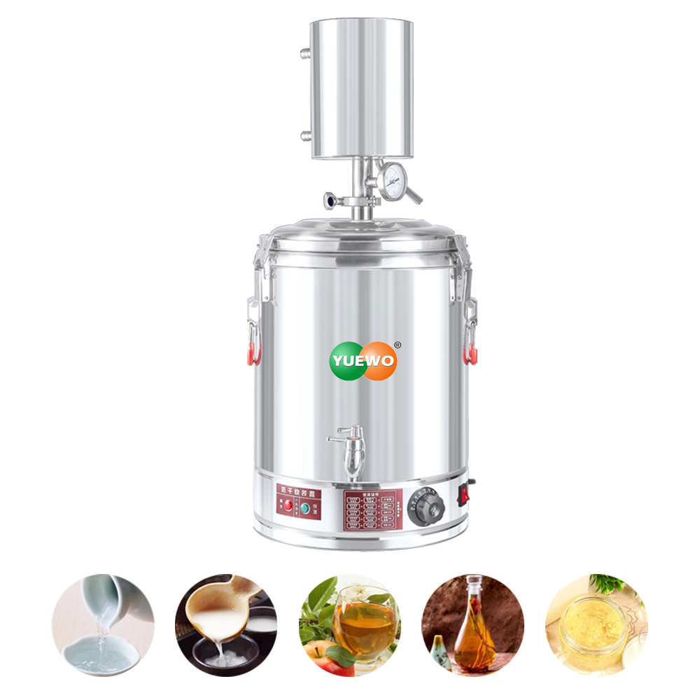 220V Automatic Electric Heating Alcohol Distiller Moonshine Still  Alembic Spirits Wine Making Boiler With Water Pump For Whisk