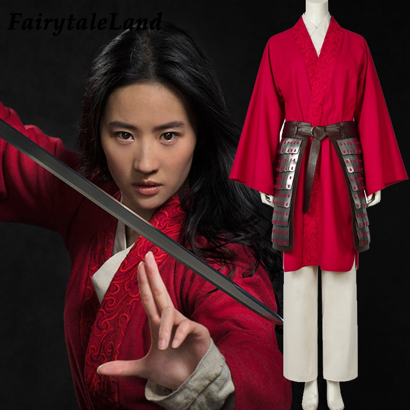 Movie Mulan 2020 Cosplay Costume Princess Hua Mulan Red Gown Cosplay Dress Fa Mu Lan Costume Chinese Ancient Style Suit Outfit Aliexpress