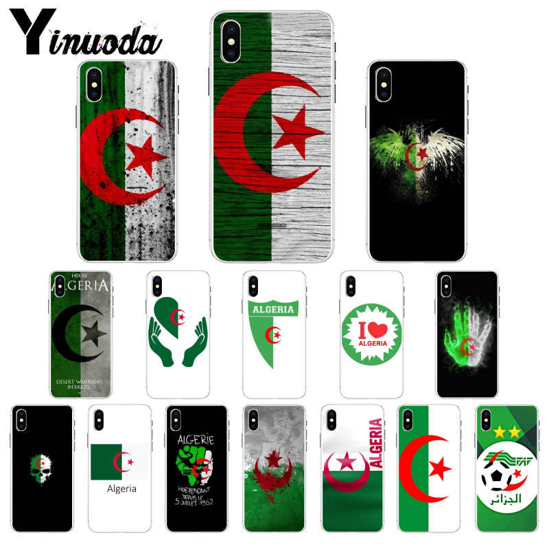 Voor iphone 11 Algerije Nationale vlag Transparante Soft Shell Telefoon Cover voor Apple iphone 8 7 6 6S Plus X XS MAX 5 5S SE XR