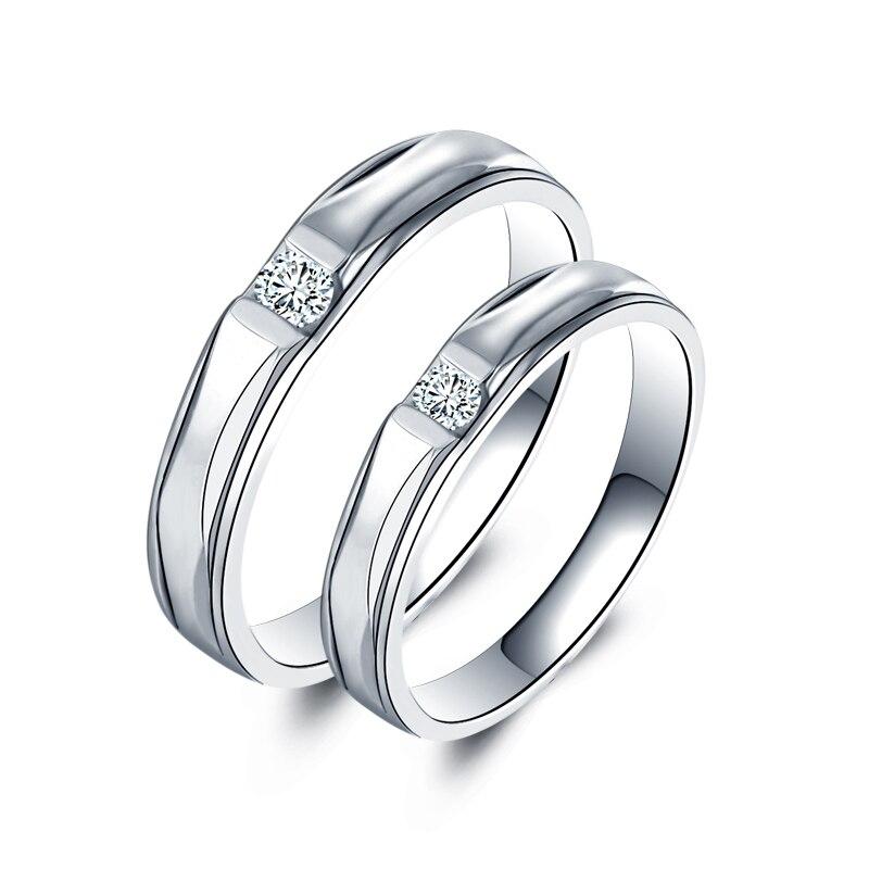 Bague diamant or 18K hommes et femmes sur la bague bague diamant platine mariage mariage bague de mariage personnalisé