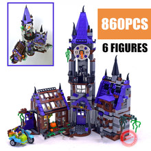 Scooby Doo Mystery Castle Courtyard Mansion model Building kit blocks Compatible With 75904 bircks Toy Kid birthday boy Gift