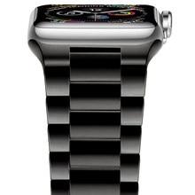Pulseira de aço inoxidável magro para apple watch 42mm 38mm 1/2/3/4 pulseira de metal para iwatch series 4 5 6 se 44mm 40mm
