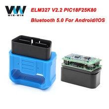 V018 elm 327 v2.2 obd2 scanner wifi bluetooth 5.0 elm327 v1.5 para android/ios obd obd2 carro ferramenta de diagnóstico odb2 leitor de código automático