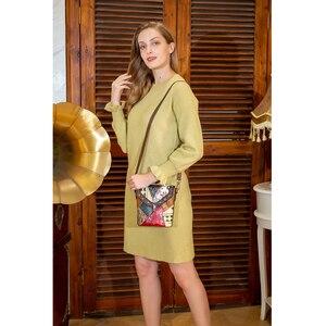 Image 2 - Mva bolsa de luxo bolsas de couro genuíno das mulheres/senhoras pequenas bolsas de ombro do vintage crossbody sacos para as mulheres 86388
