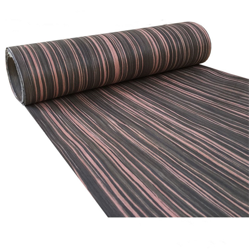 Technical Wood Veneer Furniture Decorative Veneer Engineering Veneer E.V. Brown Ebony Straight Grain Striped Q/C