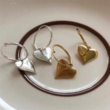 Ruiyi реальные 925 стерлингового серебра в форме сердца серьги
