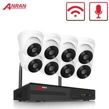Anrun 1080P HD الصوت نظام كاميرا CCTV 8 CH طقم NVR كاميرا أمان لاسلكية نظام داخلي المنزل طقم مراقبة الفيديو اللاسلكية