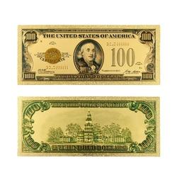 1928 год кредиток золота 24k позолоченные США 100 долларов мир поддельные коллекции денежных знаков валюта USD Фольга купюр