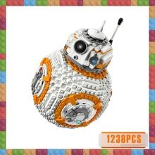 цена на Compatible LELEg Technic Star Wars BB8 Robot Starfighter Starwars Figures Model Building Blocks Bricks Toy 75187 Gift for Boys