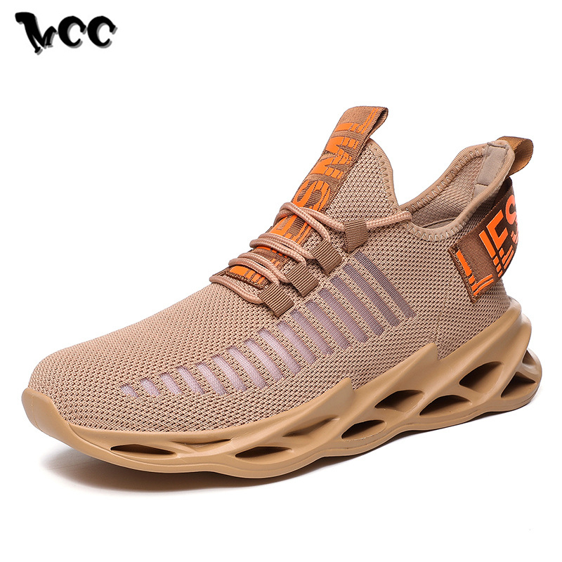 Mens Shoes Casual Sneakers Light Weight Platform Shockproof Running Shoes Adult Male Tenis Footwear Breathable Anti-skid Design