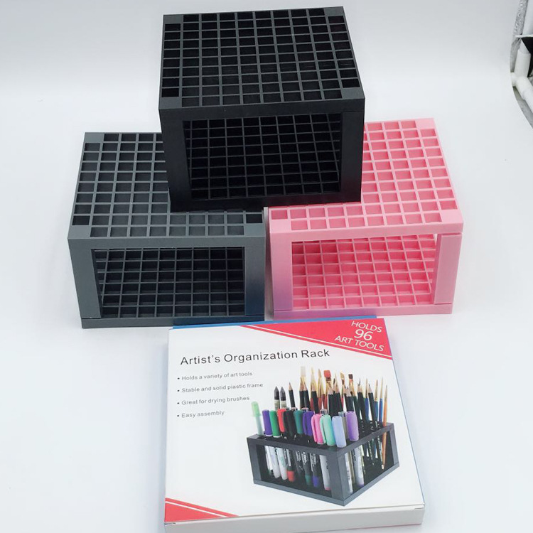 96 Grid More Function Pen Holder Creative Painting Supply Used To Place Paint Brush Art Stationery