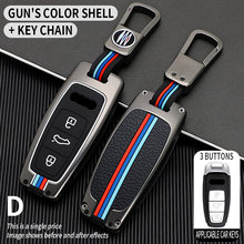 Zinc alloy arrival For Audi Key Cover Case Protector For Audi A6L A7 A8 Q8 Etron C8 D5 2019 2020 Car Key Cover Holder Shell Skin