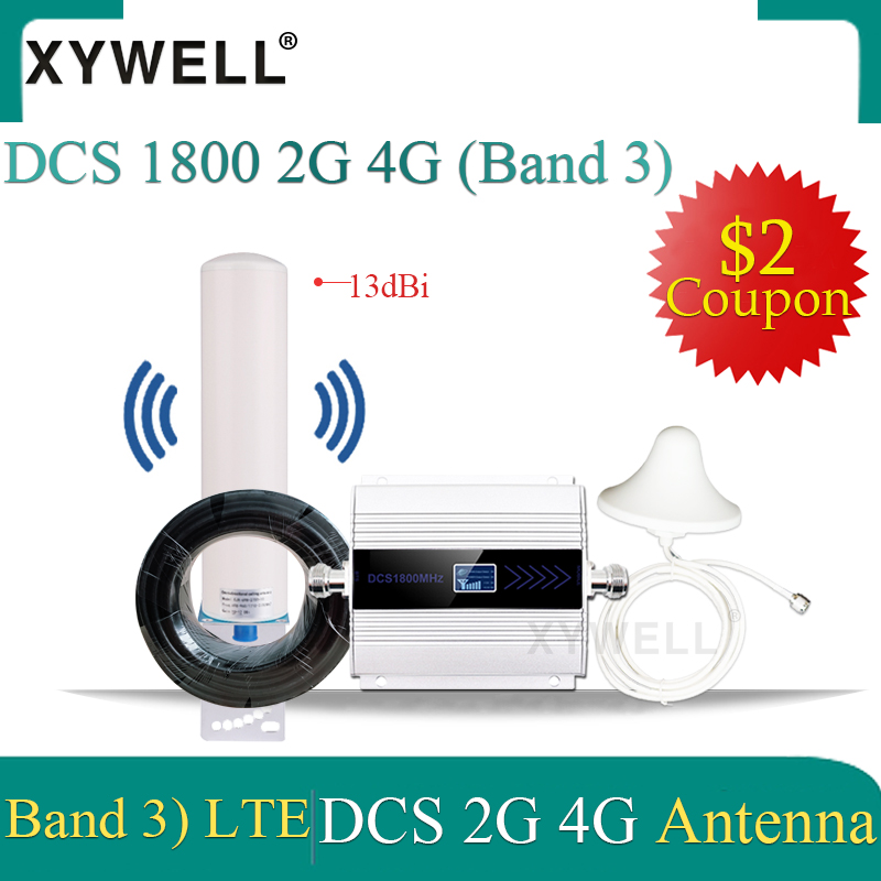 4g Repeater Cellular Amplifier 1800 GSM Mobile Signal Booster DCS 1800Mhz  LTE 1800 CellPhone Cellular Signal Repeater