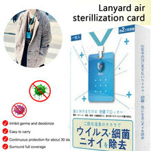 Lanyard Air Sterilization Card Purifier Anti Bacterial Disinfection Tablet