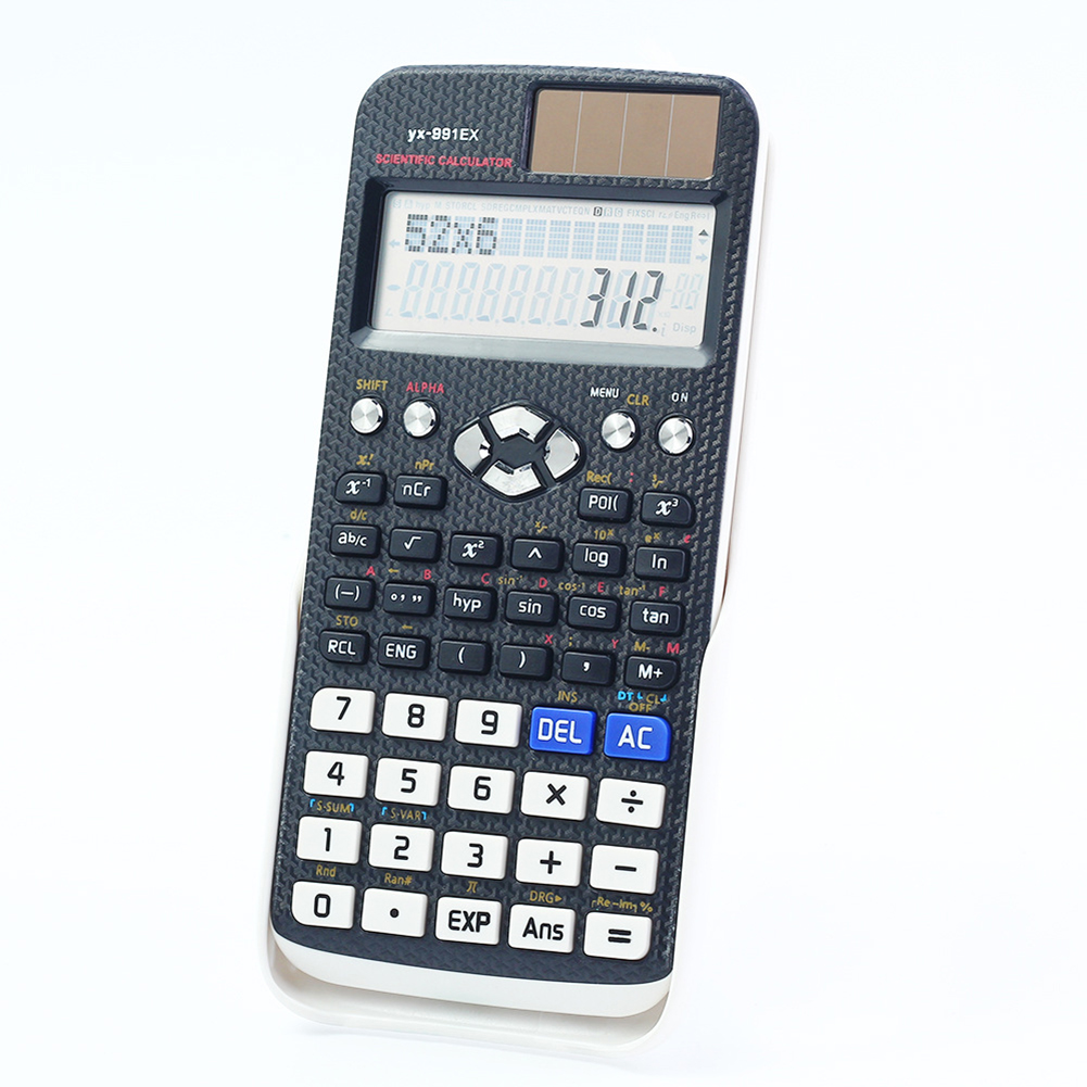 12 Digits Student's Scientific Calculator School Mathematics Counting Tool Functions Multifunctional Counter