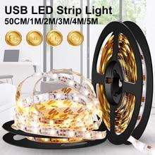 USB LED Strip TV Light Wireless Night Lamp Backlight Kitchen Cabinet Tape 5V Closet 50cm 1m 2m 3m 4m 5m