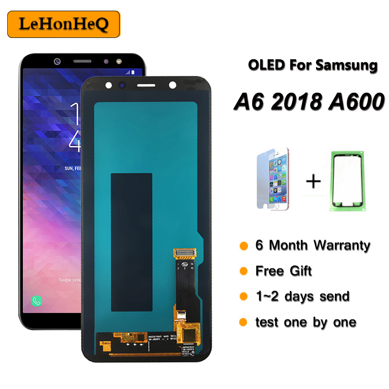 A6 2018 A600 LCD For SAMSUNG Galaxy A6 2018 A600 Display For Samsung A600 SM-A600F A600FN LCD Touch Screen Digitizer Assembly
