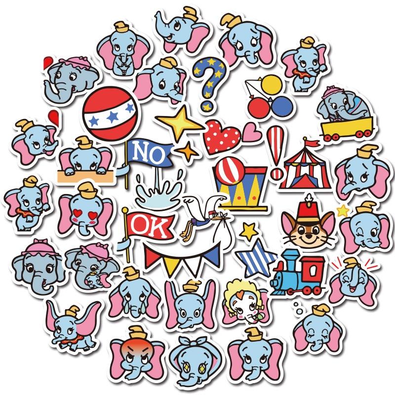 40PCS Dumbo Elephants Cartoon Vintage Decal Scrapbooking Kids For DIY Phone Laptop Motorcycle Waterproof Stickers