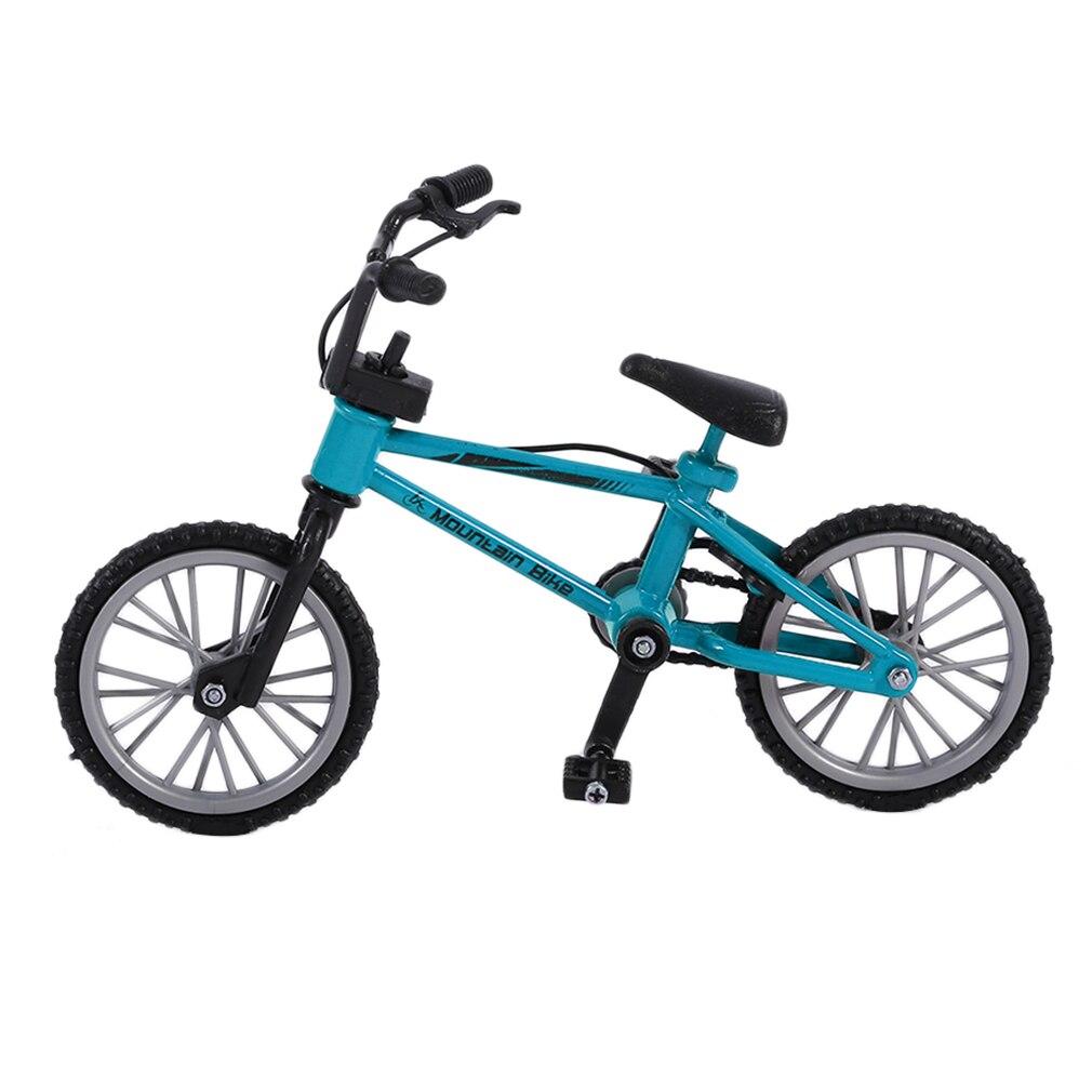 Alloy mini Finger Bikes Finger board bicycle Toys With Brake Rope Blue Simulation Alloy Finger bmx Bike Children Gift Mini Size