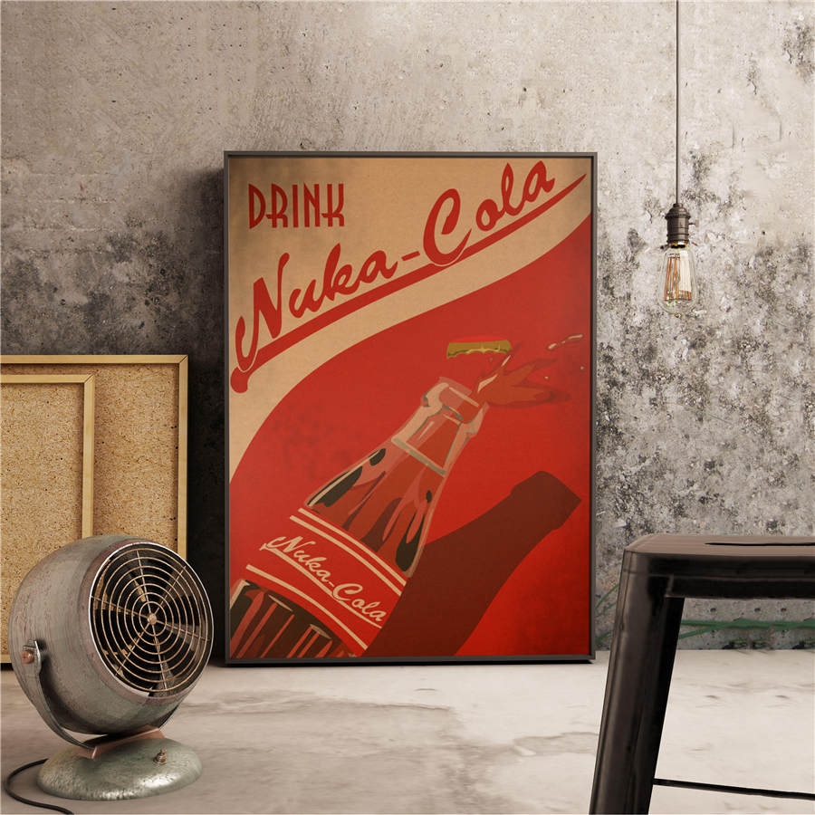 Fallout 3 4 Game Poster Antique Drawing Vintage Print Painting Wall Sticker Kraft Paper Cafe Pub Bar Home Decor Picture42x30cm image