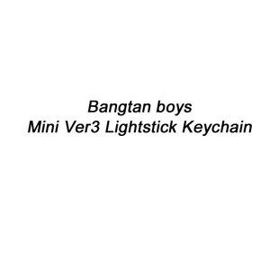 Kpop Bangtan boys Ver3 mini lightstick keychain concert Armybomb Light stick key chain Glow lamp Pendant K-pop bangtan boys(China)