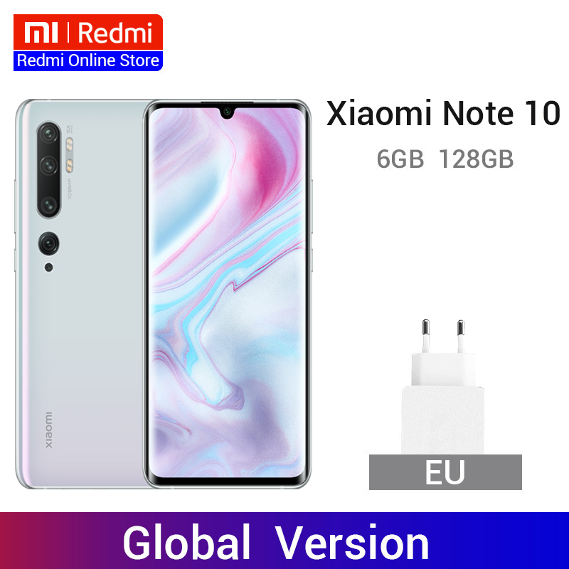 Global Version Xiaomi Mi Note 10 6GB 128GB 108MP Penta Cameras Snapdragon 730G Octa Core Smartphone 5260mAh 30W Fast Charge NFC