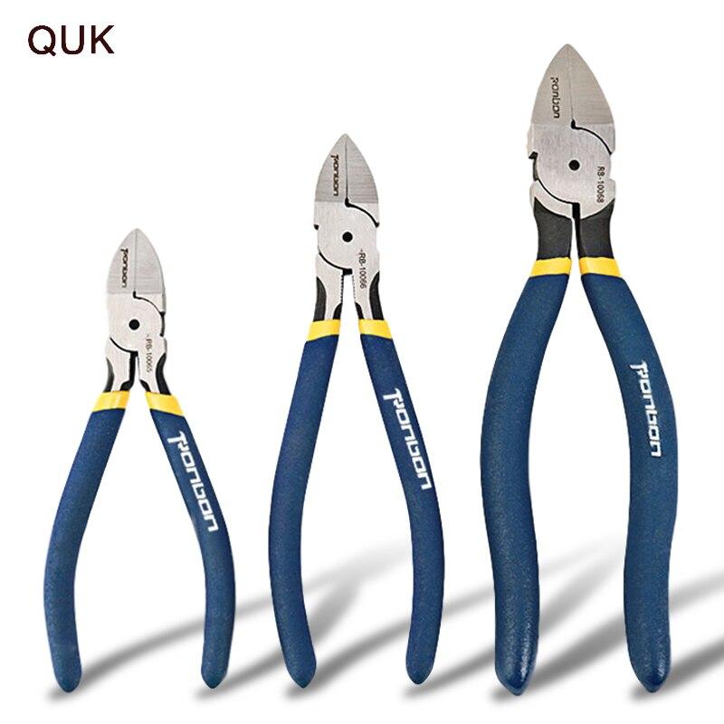 Кук 5-7 дюймов диагональные плоскогубцы для резки проволоки для зачистки кусачки боковой резак инструмент для снятия заусенцев бытовые мног...