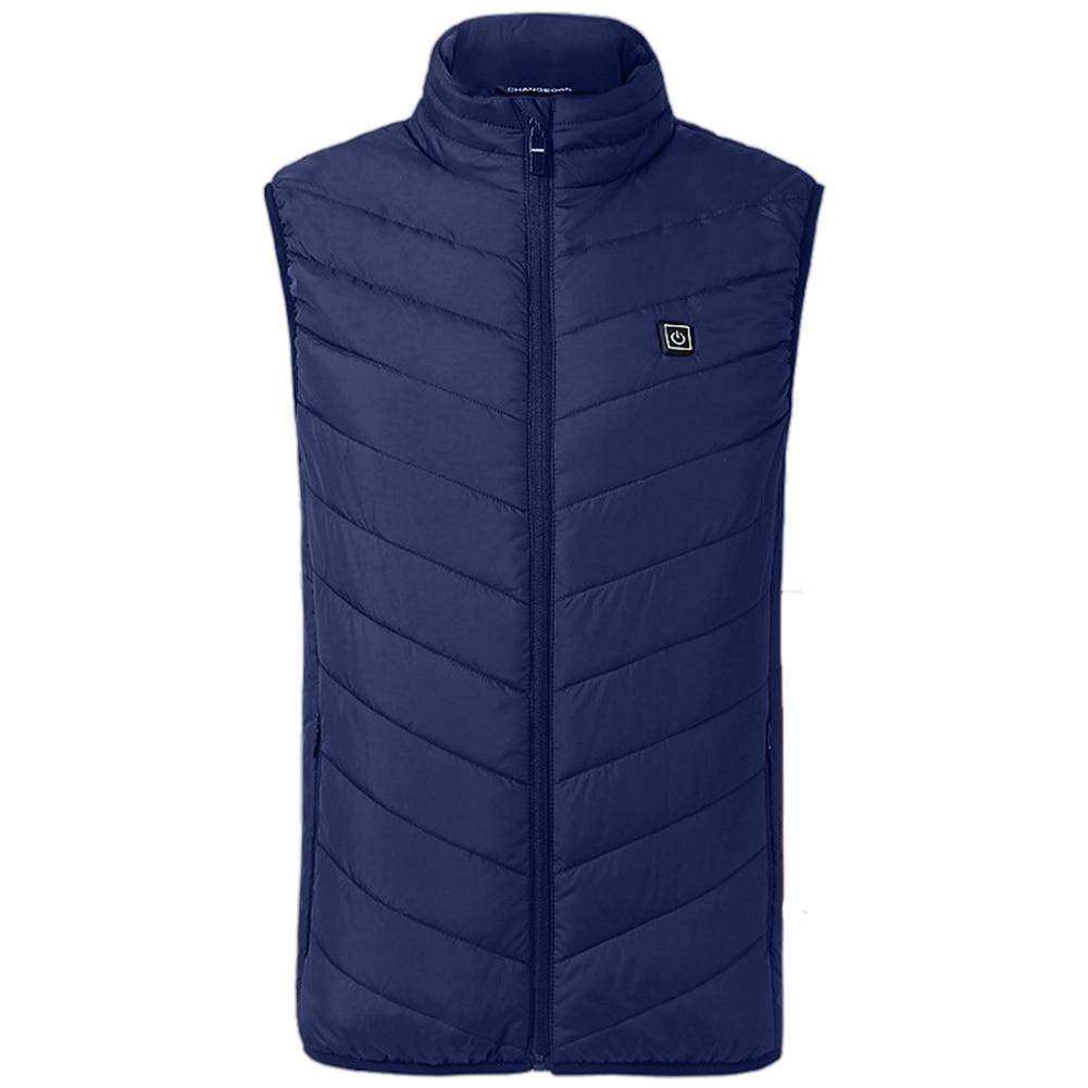 Fashion Electric Heating Vest men's electric warm vest rechargeable sleeveless vest chalecos para hombre jacket 2