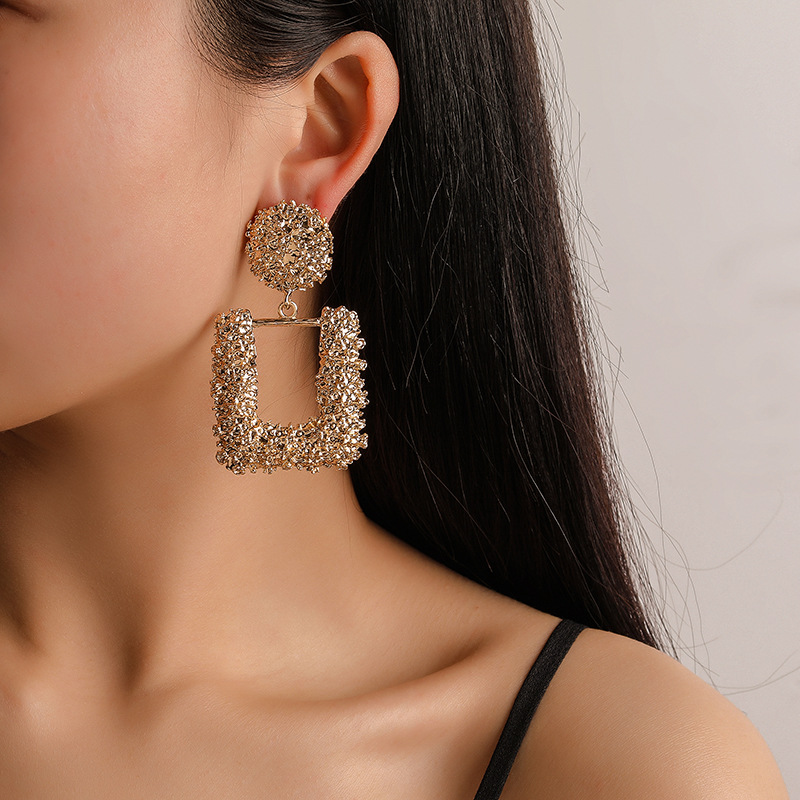 Big Geometric Charm Vintage Clip on Earring for Women Fashion Jewelry 2019 Modern
