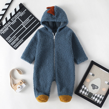 2020 Winter Newborn Baby Boy Girl Clothes Romper Hooded Soft Fleece Outwear Born Infant Jumpsuit 0-12M Outfits Warm Toddler New new born baby clothes infant newborn baby boys girls cartoon print ear hooded romper jumpsuit outfits baby winter clothes 9 12