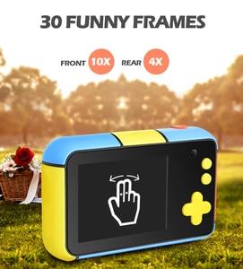 Image 4 - Mini aparat dziecięcy Mini 2.4 Cal Ful ekran HD podwójny obiektyw cyfrowy aparat zabawka wakacje zdjęcie wideo prezent na boże narodzenie aparat zabawka