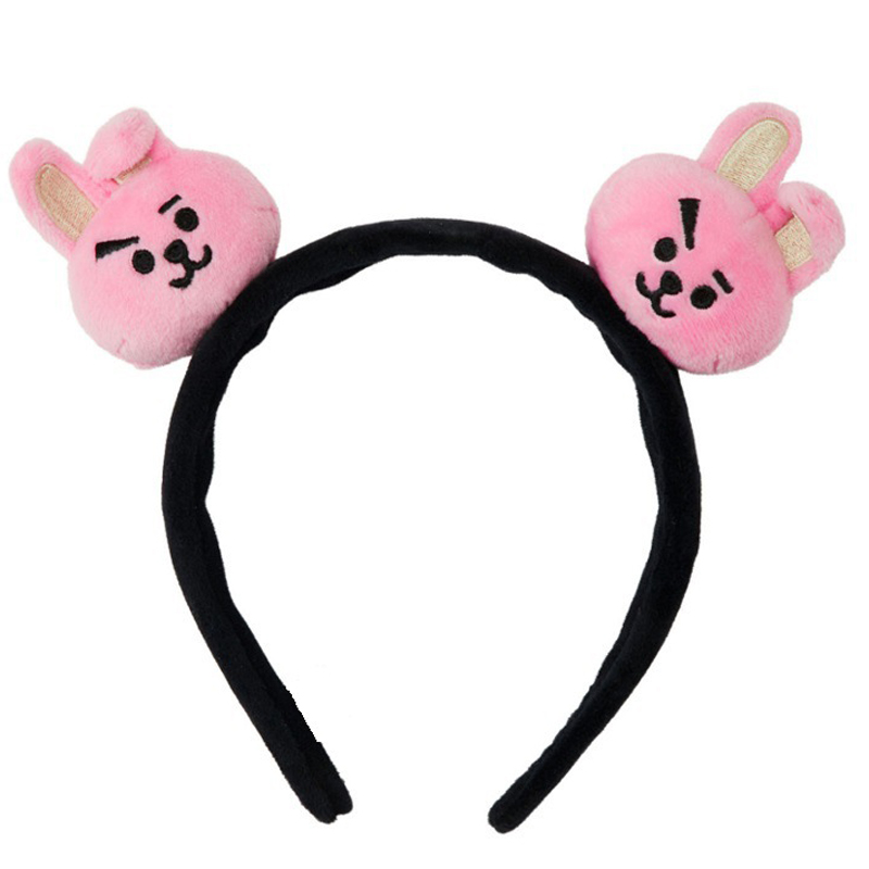 Fashion Cartoon Kpop Kawaii Band Kpop Bangtan Girls Korean Style Headbands Plush Hair Hoop Accessories Gift Kpop Head Band