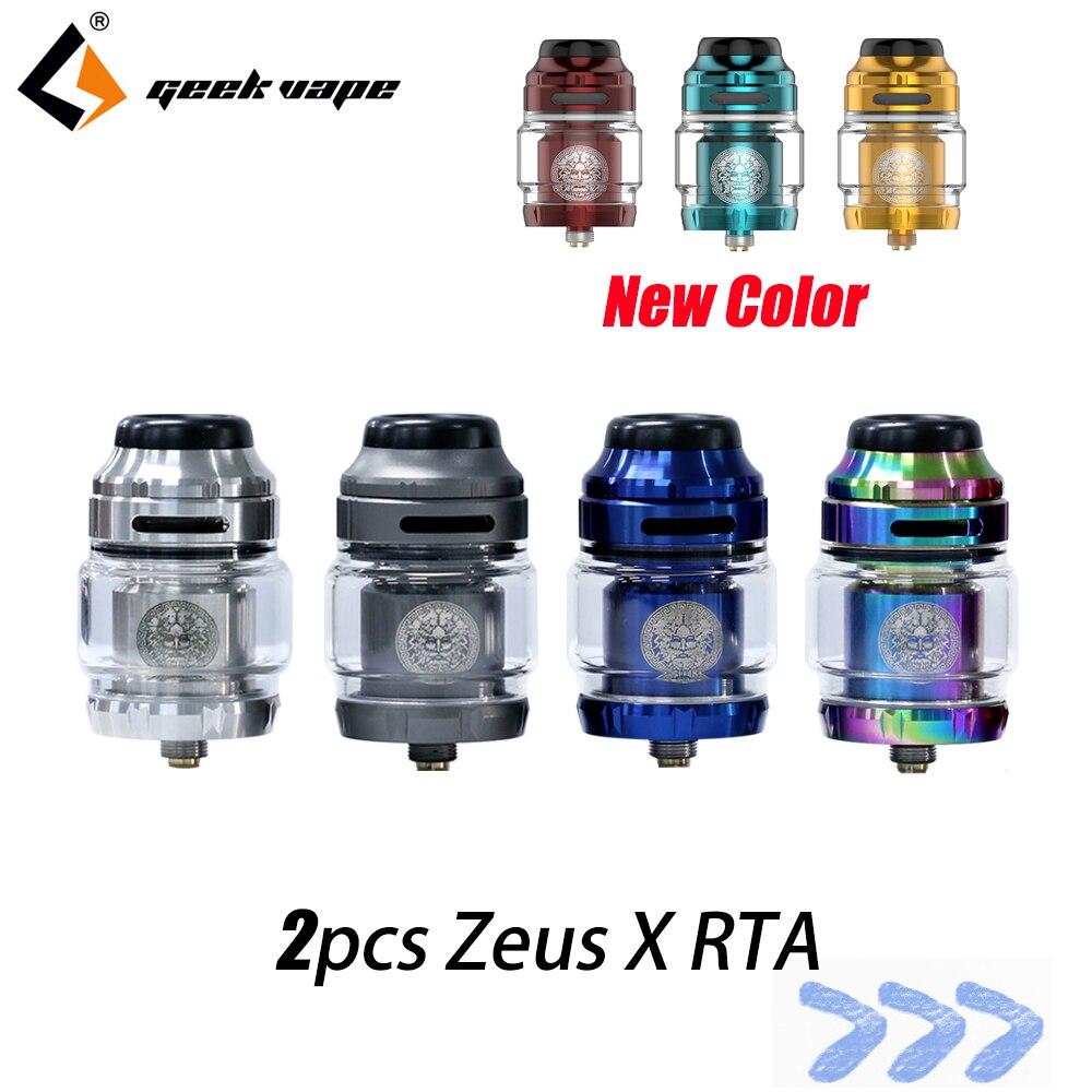 2pcs/lot Vape Tank Geekvape Zeus X RTA 4.5ml Tank Capacity With 810 Delrin Drip Tip Vape Atomizer Rta Vs Zeus Rta Zeus Dual