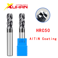 4 flauti HRC50 fresa in metallo duro fresa in metallo duro fresa in acciaio al tungsteno frese utensili da taglio CNC