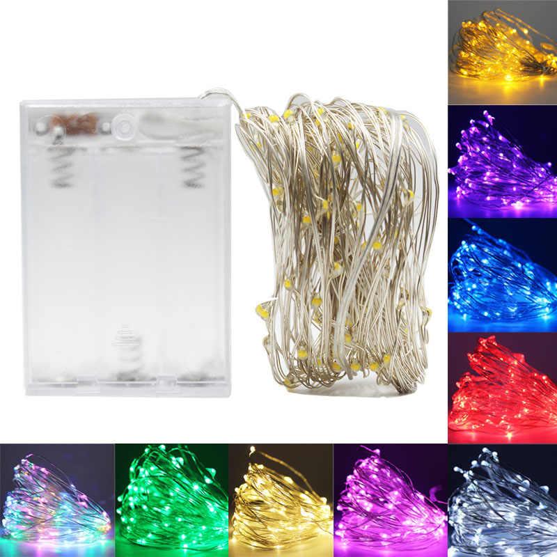 2M 5M 10M girlanda żarówkowa LED Light z korek do butelki na szklane wyroby butelki dekoracje ślubne bożonarodzeniowe girlandy żarówkowe