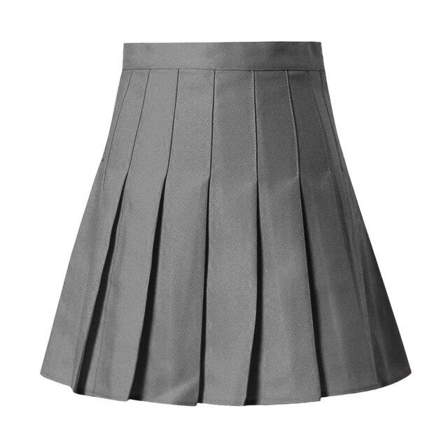 Women Skirts High Waist Pleated Mini Skirt Pink Pleated Satin Skirt Women's Fashion Slim Waist Casual Tennis Skirts School 6