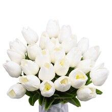 5/10/20/30pcs Artificial Tulip Bonsai Flower foam Tulipanes Plant For Real Touch Wedding Bouquet Decoration