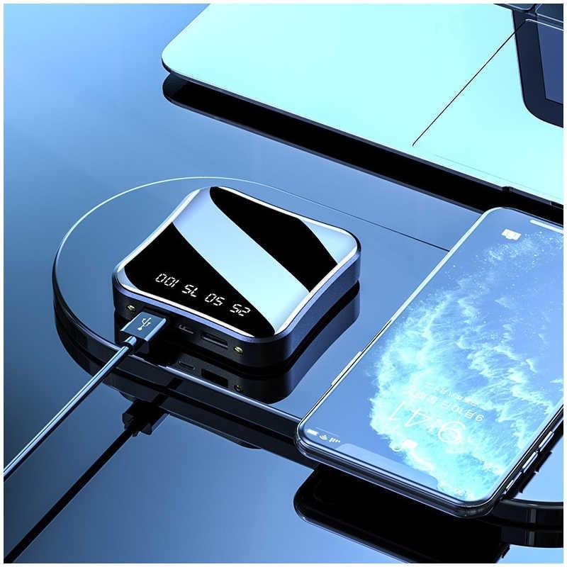 Power Bank 20000 MAh untuk iPhone 8 Xiaomi Portable Mini Powerbank Pover Charger Dual USB Port Baterai Eksternal Poverbank