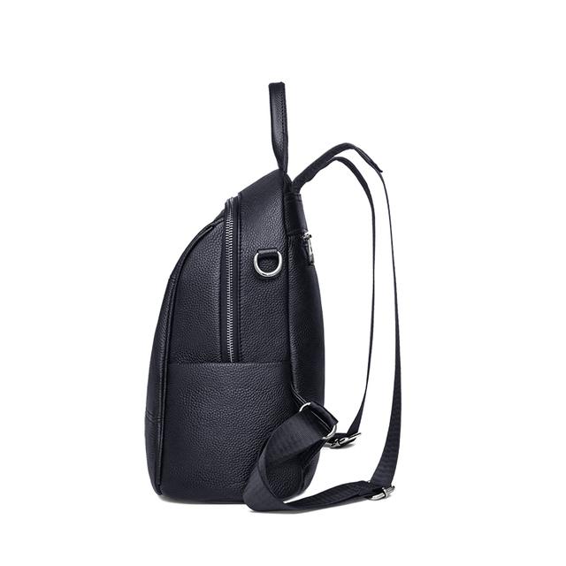 ZOOLER 100% Genuine Leather Fashion Women Backpack Black Style Girl's Schoolbag Large Holiday Knapsack Lady Casual Travel Bag