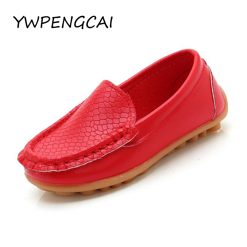 Candy Color Children Shoes Spring Autumn Kids Shoes Boys Loafers Girls Shoes Flat Moccasins PU Leather Baby Toddler Shoes #21-36