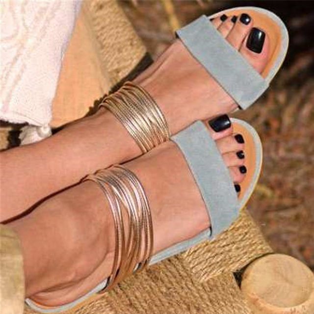 Women Rome Sandals New Summer Hot Retro Wedges Gladiator Non-slip Slippers Ladies Party Office Shoes Beach Sandals Slides