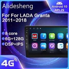Android 10,0 DSP IPS para LADA Granta 2011, 2012, 2013, 2014, 2015, 2016 - 2018 auto Radio multimedia Player navegación GPS 2 din dvd
