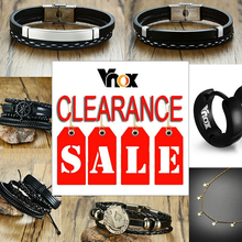 Vnox ES Warehouse Clearance Sale Leather Bracelet Set Men Women Casual Jewelry Rudder