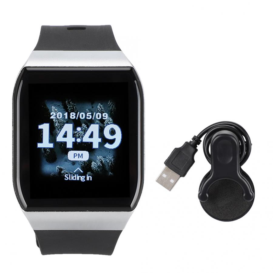 Silber Wearable Wasserdichte Smart Uhr Sport Armband mit OLED Touchscreen Motion <font><b>Sensor</b></font> für iOS/Android android uhr image